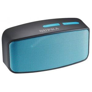 Аудиомагнитола SUPRA BTS-530, черный/голубой
