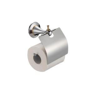Держатель для туалетной бумаги ZOLLEN ESSEN chrome ES89424, с крышкой