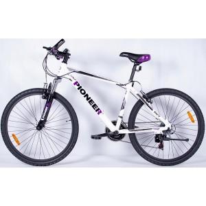 """Велосипед Pioneer Sky 17.5"""" white/black/violet"""