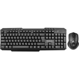 Беспроводной набор (клавиатура + мышь) DEFENDER Jakarta C-805 RU,черный