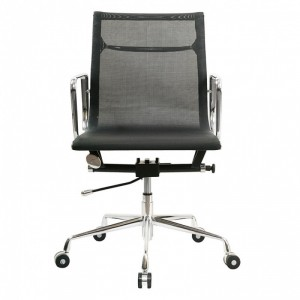Кресло Бюрократ CH-996-Low/black низкая спинка черный сетка крестовина хром
