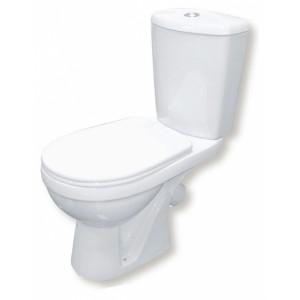 Унитаз-компакт Rosa Комфорт косой выпуск, нижний подвод, сиденье полипропилен, микролифт, белый