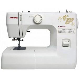 Швейная машина Janome Juno 507, белый/цветы