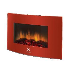 Электрокамин Electrolux EFP/W-1200URLS, красный