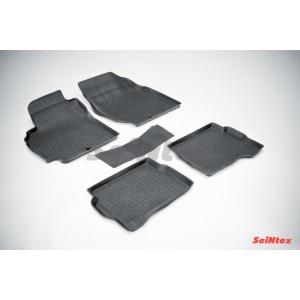 Резиновые коврики с высоким бортом для Nissan Almera classic (B10) 2006-2013