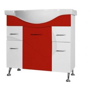 Тумба Ювента Франческа 87 Ф4-87, белый/красный