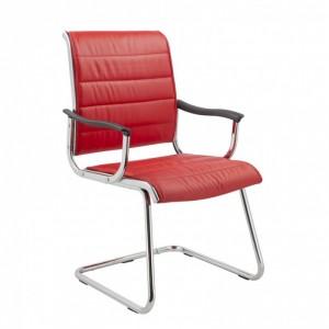 Кресло Бюрократ CH-994AV/Red красный искусственная кожа полозья хром
