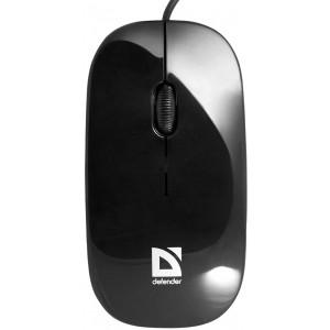 Мышь Defender NetSprinter MM-340, черный/зеленый