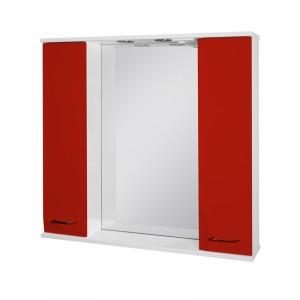 Зеркало-шкаф Ювента Франческа ФШНЗ3-87, красный