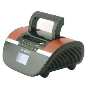 Аудиомагнитола Hyundai H-PAS240, черный/коричневый