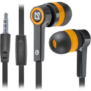 Наушники для ПК Defender Pulse-420 черный/оранжевый