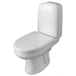 Унитаз-компакт Оскольская Керамика Эльдорадо косой выпуск, нижний подвод, сиденье дюропласт, белый