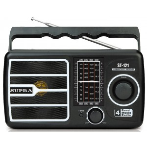 Радиоприемник SUPRA ST-121, black, черный