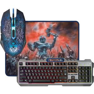 Игровой набор DEFENDER Killing Storm MKP-013L RU, мышь+клавиатура+ковер