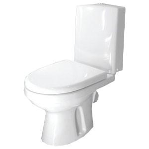 Унитаз-компакт Оскольская Керамика Леда Люкс косой выпуск, нижний подвод, сиденье дюропласт, белый