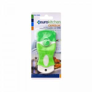 Скребок Euro Kitchen RS-15WL для чистки стеклокерамических белый/салатовый
