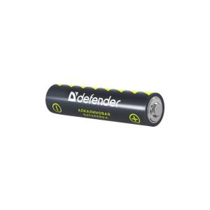 Батарейка алкалиновая Defender LR03-2B AAA, в блистере 2 шт
