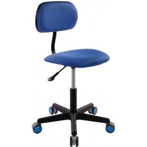 Кресло детское Бюрократ BU-201/V398-86 без подлокотников синий сиденье синий