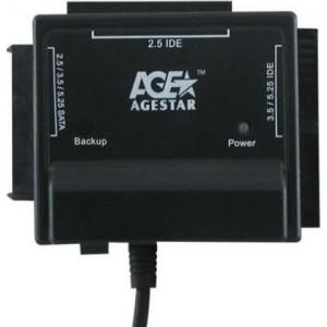 """Универсальный переходник AGESTAR FUBCP, для 2.5"""" и 3.5"""" дисков, черный"""
