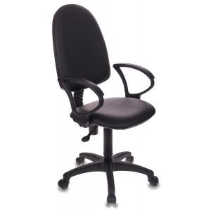 Кресло Бюрократ CH-1300/OR-16 черный Престиж+ искусственная кожа