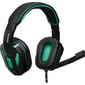 Наушники для ПК Defender Warhead G-275, зеленый/чёрный