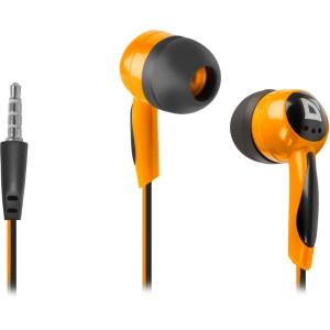 Наушники Defender Basic 604, вкладыши, 1,1 м, оранжевый
