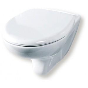 Унитаз подвесной Rosa Элеганс Люкс горизонтальный выпуск, скрытый подвод, сидение дюропласт, белый