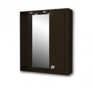 Зеркало-шкаф Merkana Толедо 65см, правое, 2 светильника, розетка, венге