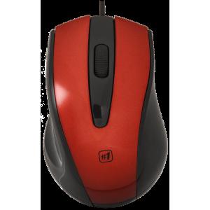 Мышь Defender MM-920, красный/черный