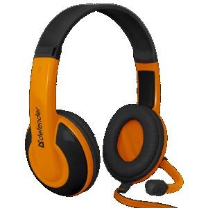 Наушники для ПК Defender Warhead HN-G120, черный/оранжевый