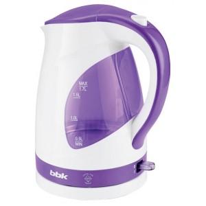Чайник BBK EK1700P, белый/фиолетовый