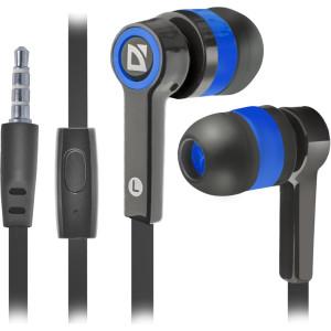 Наушники Defender Pulse-420 черный/синий