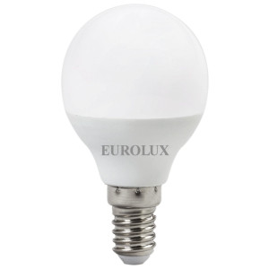 Лампа светодиодная Eurolux LL-E-G45-7W-230-4K-E14 (шар, 7Вт, нейтр., Е14) (10шт.)