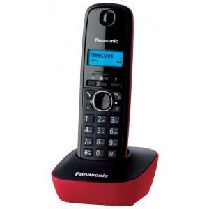 Радиотелефон Panasonic KX-TG1611RUR, красный и черный