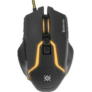 Мышь Defender Warhead MP-1400, черный (с ковриком)