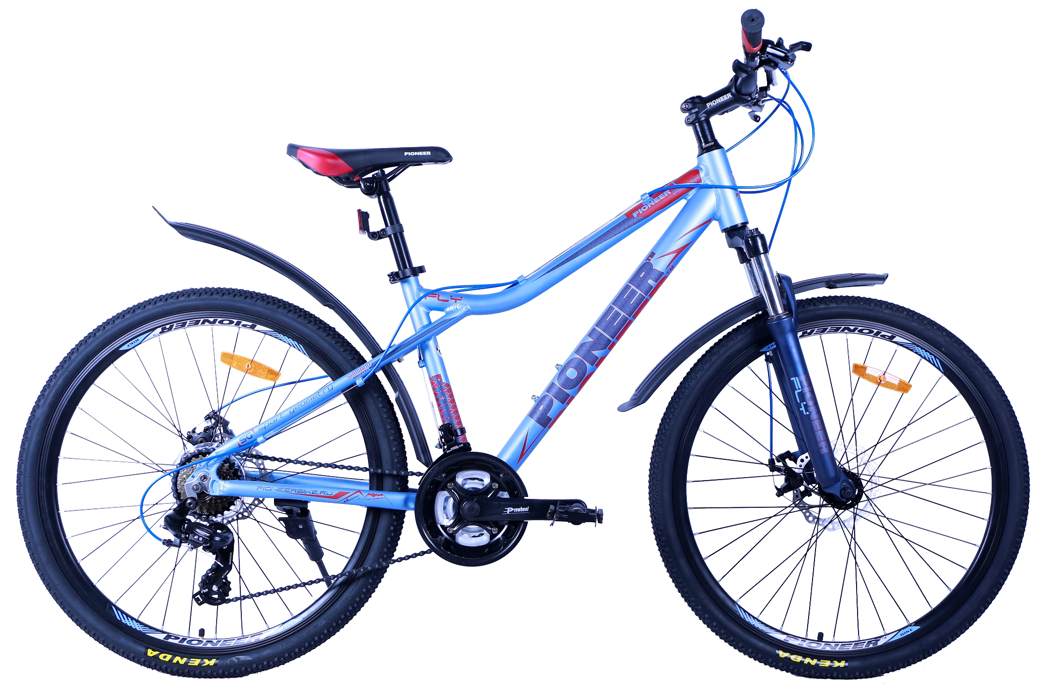 Велосипед Pioneer Fly T 16'' lightblue/darkblue/red