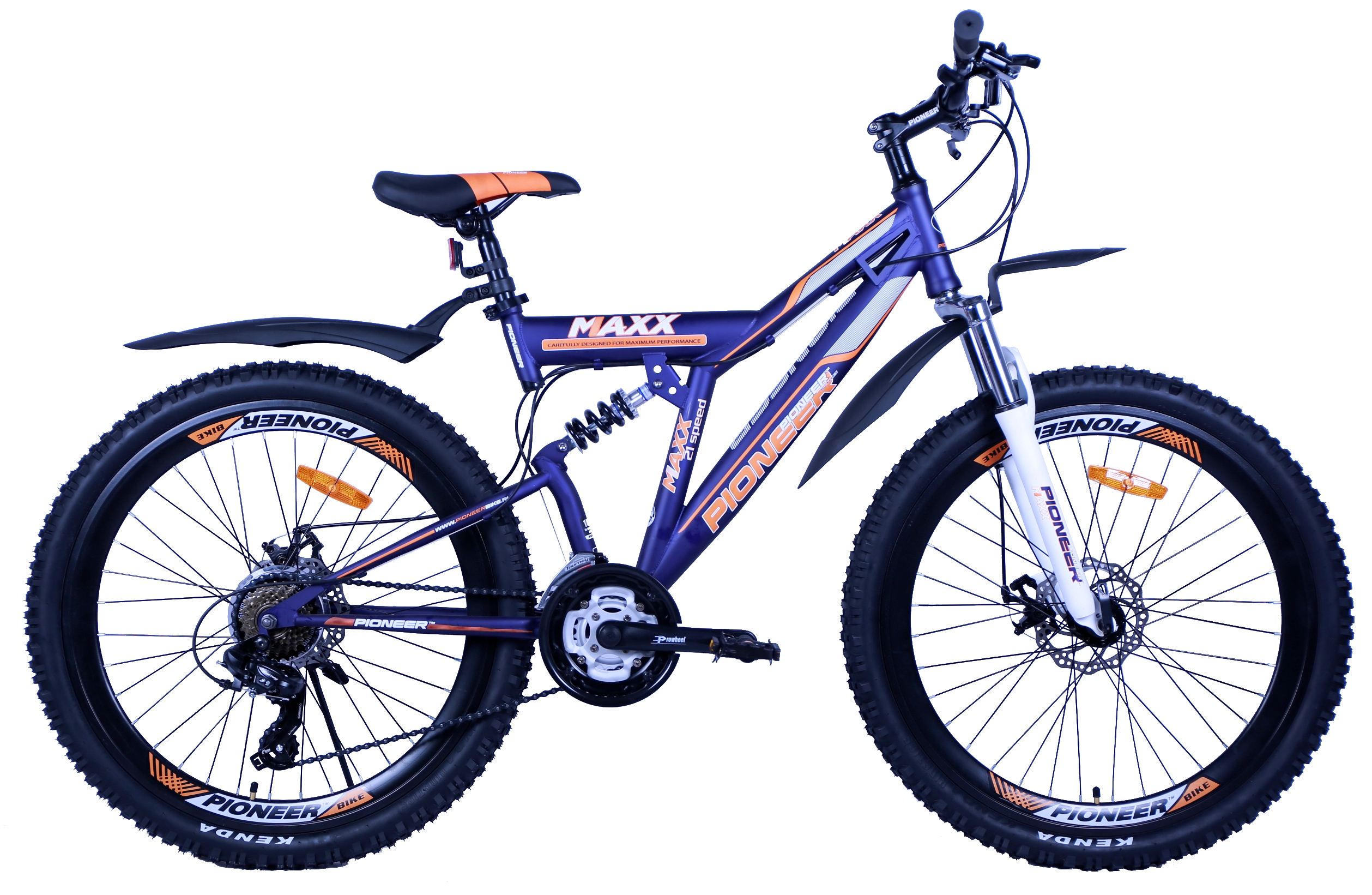 Велосипед Pioneer Maxx T 18'' darkblue/white/orange
